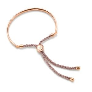 Monica Vinader Rose Gold Fiji Friendship Bracelet